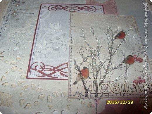 """Новогодняя серия открыток """"А на ветках снегири..."""" (и синицы))) фото 10"""