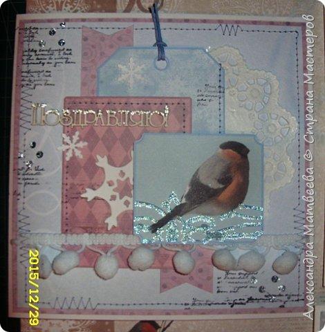 """Новогодняя серия открыток """"А на ветках снегири..."""" (и синицы))) фото 12"""