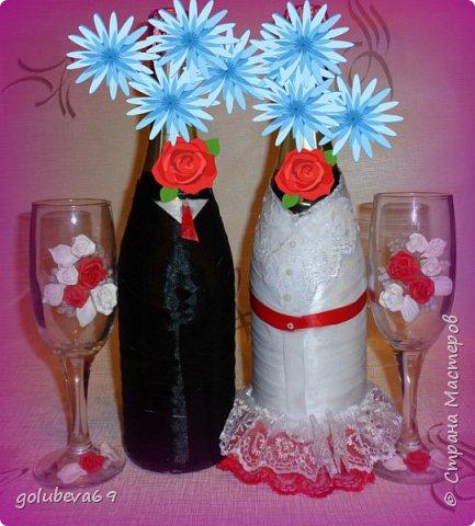 Сделала под заказ вот такой свадебный набор. фото 1