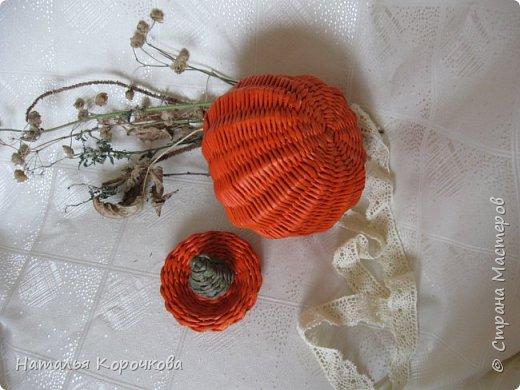 Приветствую всех, кто заглянул ко мне в гости! Нравятся мне тыквы, они настроение создают оранжевое. Сплела себе и любуюсь теперь. фото 2