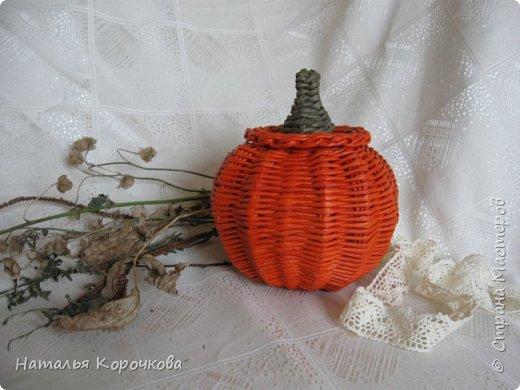 Приветствую всех, кто заглянул ко мне в гости! Нравятся мне тыквы, они настроение создают оранжевое. Сплела себе и любуюсь теперь. фото 1