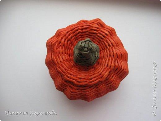Приветствую всех, кто заглянул ко мне в гости! Нравятся мне тыквы, они настроение создают оранжевое. Сплела себе и любуюсь теперь. фото 9