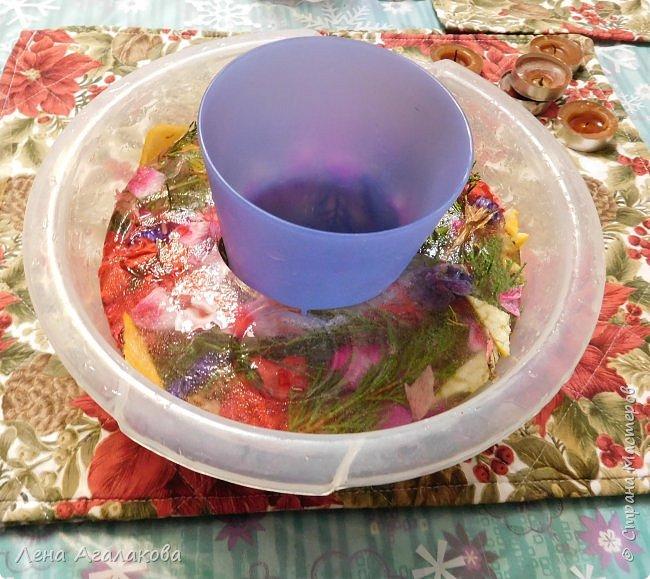 Добрый день жители СМ! С наступившим Новым годом и Рождеством! Сегодня хочу показать ледяной подсвечник, давно хотела сделать и очень мне понравился результат, хочется украсить стол на праздник чем-то оригинальным. фото 3