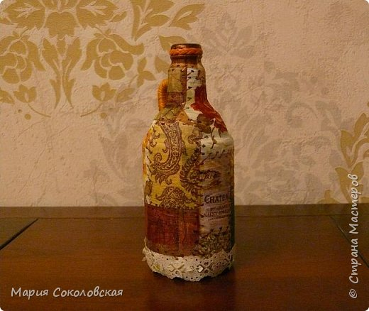 Декор 5 бутылочек в разных техниках фото 11