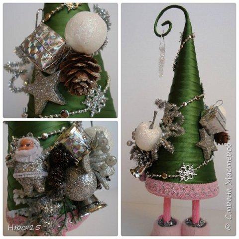 С Рождеством Христовым! В этот светлый праздник хочется пожелать мира и спокойствия в каждом доме, добра, взаимопонимания, достатка, любви, счастья, душевного равновесия, успехов во всех начинаниях, побольше радости, крепкого здоровья и всех благ! Пусть оправдаются все ожидания и сбудутся самые заветные мечты!  Вот и я насмотрелась на ваши елочки и сделала несколько штук:) фото 5