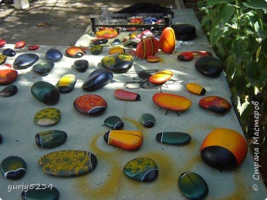 Всем привет! Подсмотрел в инете идею разукраски камней, решил попробовать -а почему бы и нет?! Камни есть, краска тоже. Вперед! фото 3