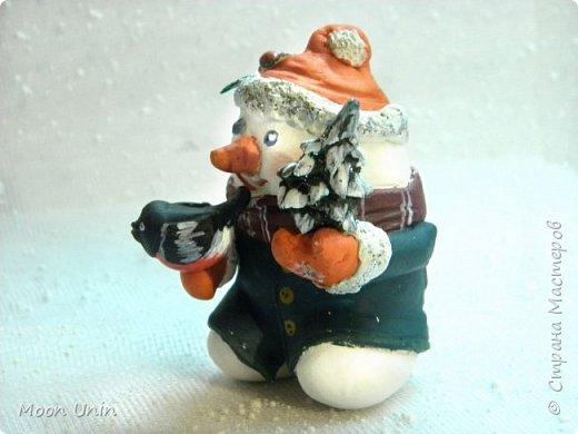 Хорошо лепить снеговиков, сидя дома, руки не мерзнут и щек мороз не щипет:) А морозец у нас нынче знатный, за 30 градусов, не разгуляешься) фото 2
