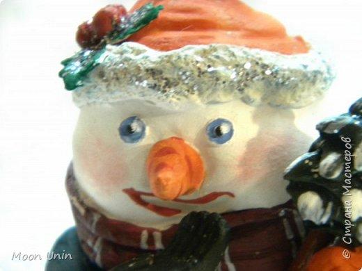 Хорошо лепить снеговиков, сидя дома, руки не мерзнут и щек мороз не щипет:) А морозец у нас нынче знатный, за 30 градусов, не разгуляешься) фото 7