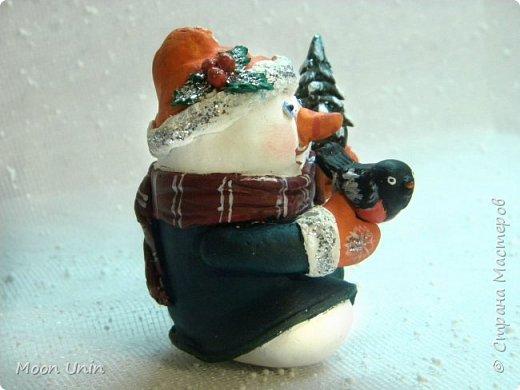 Хорошо лепить снеговиков, сидя дома, руки не мерзнут и щек мороз не щипет:) А морозец у нас нынче знатный, за 30 градусов, не разгуляешься) фото 3