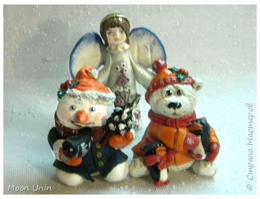 Хорошо лепить снеговиков, сидя дома, руки не мерзнут и щек мороз не щипет:) А морозец у нас нынче знатный, за 30 градусов, не разгуляешься) фото 8