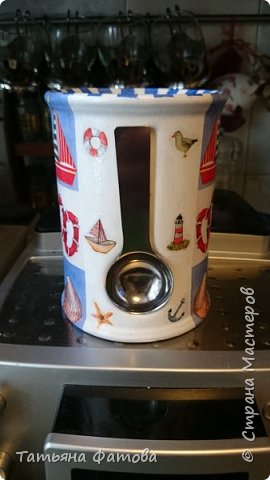 Подставка в морском стиле под кухонные приборы или что-то другое фото 5
