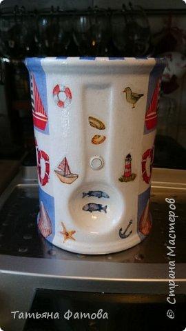 Подставка в морском стиле под кухонные приборы или что-то другое фото 6