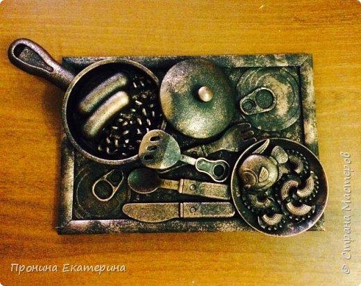 3D картина)))из детской посуды)