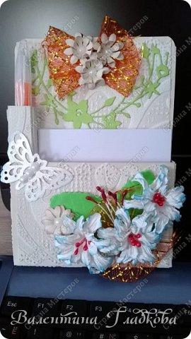 Здравствуйте, соседи СМ! Хочу показать вам серию органайзеров - магнитиков на холодильник. Они все похожи друг на друга, потому что делались для коллег в подарок. фото 4