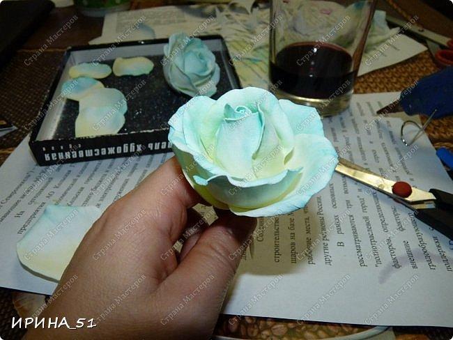 Здравствуйте! Сегодня я к Вам с новым Мк. Простая роза с тонировкой сухой пастелью. Мастер-класс. Автор Ирина_51 (вы можете найти меня  в контакте по имени  Ирина Сашина) фото 37