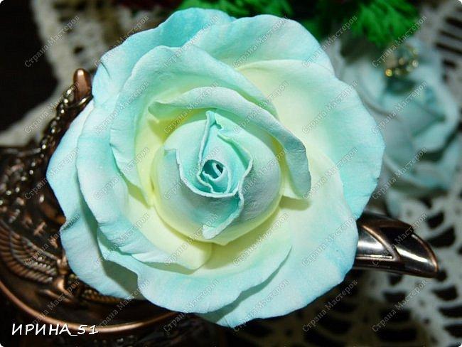 Мастер-класс Флористика искусственная Моделирование конструирование Простая роза с тонировкой сухой пастелью Мастер-класс Фоамиран фом фото 1