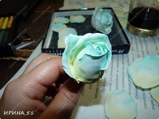 Здравствуйте! Сегодня я к Вам с новым Мк. Простая роза с тонировкой сухой пастелью. Мастер-класс. Автор Ирина_51 (вы можете найти меня  в контакте по имени  Ирина Сашина) фото 34
