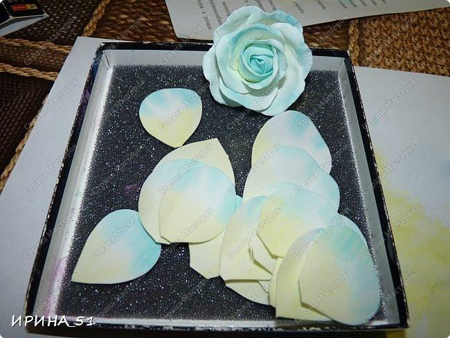 Здравствуйте! Сегодня я к Вам с новым Мк. Простая роза с тонировкой сухой пастелью. Мастер-класс. Автор Ирина_51 (вы можете найти меня  в контакте по имени  Ирина Сашина) фото 12