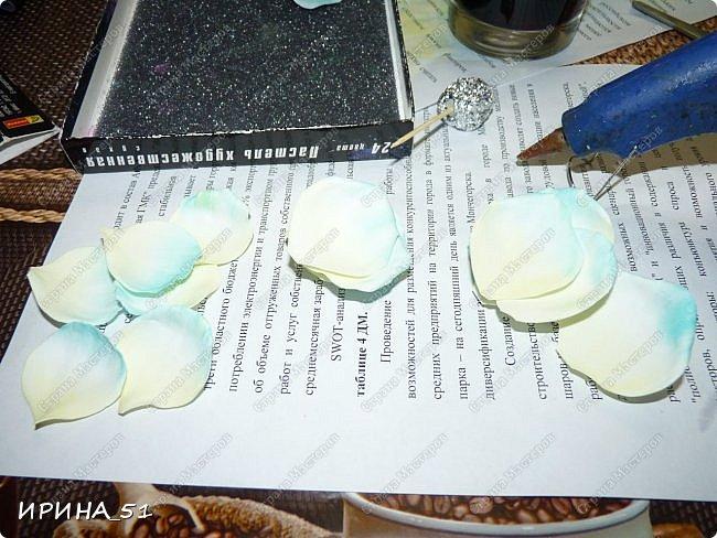 Здравствуйте! Сегодня я к Вам с новым Мк. Простая роза с тонировкой сухой пастелью. Мастер-класс. Автор Ирина_51 (вы можете найти меня  в контакте по имени  Ирина Сашина) фото 19