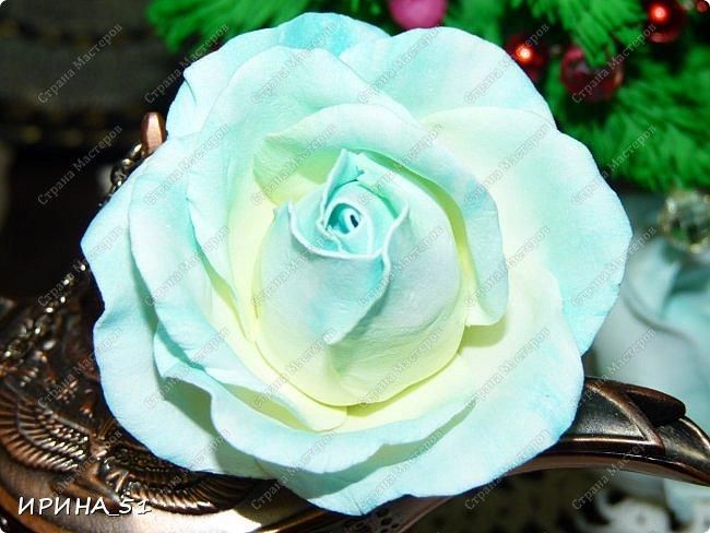 Мастер-класс Флористика искусственная Моделирование конструирование Простая роза с тонировкой сухой пастелью Мастер-класс Фоамиран фом фото 2