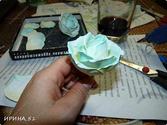 Здравствуйте! Сегодня я к Вам с новым Мк. Простая роза с тонировкой сухой пастелью. Мастер-класс. Автор Ирина_51 (вы можете найти меня  в контакте по имени  Ирина Сашина) фото 38