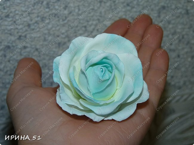 Здравствуйте! Сегодня я к Вам с новым Мк. Простая роза с тонировкой сухой пастелью. Мастер-класс. Автор Ирина_51 (вы можете найти меня  в контакте по имени  Ирина Сашина) фото 52