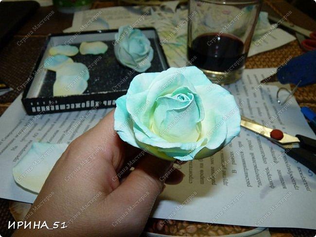 Здравствуйте! Сегодня я к Вам с новым Мк. Простая роза с тонировкой сухой пастелью. Мастер-класс. Автор Ирина_51 (вы можете найти меня  в контакте по имени  Ирина Сашина) фото 39