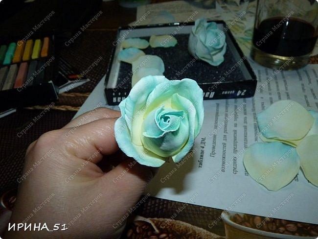 Здравствуйте! Сегодня я к Вам с новым Мк. Простая роза с тонировкой сухой пастелью. Мастер-класс. Автор Ирина_51 (вы можете найти меня  в контакте по имени  Ирина Сашина) фото 36