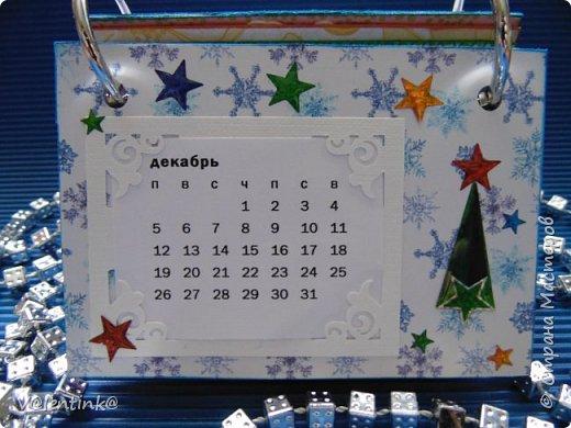 Подходят к концу новогодние праздники. Но подарки еще подарены не всем. Этот бесконечный календарь делала в подарок подруге у которой уже много моих работ. Поэтому нужно что то новенькое и эксклюзивное. фото 12