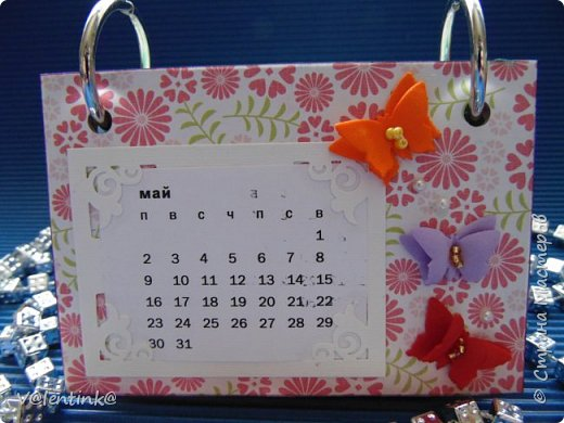 Подходят к концу новогодние праздники. Но подарки еще подарены не всем. Этот бесконечный календарь делала в подарок подруге у которой уже много моих работ. Поэтому нужно что то новенькое и эксклюзивное. фото 6