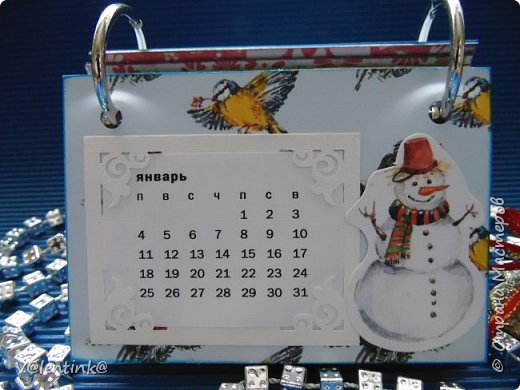 Подходят к концу новогодние праздники. Но подарки еще подарены не всем. Этот бесконечный календарь делала в подарок подруге у которой уже много моих работ. Поэтому нужно что то новенькое и эксклюзивное. фото 2