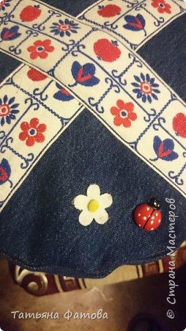 Из старых джинс сшила чехол на мультиварку, чтобы не пылилась. фото 6