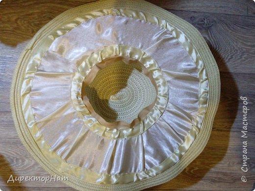 Всем привет! Недавно столкнулась с такой проблемой,зимой попросили на заказ сделать соломенную шляпу с фруктами!  фото 4