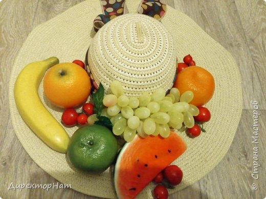 Всем привет! Недавно столкнулась с такой проблемой,зимой попросили на заказ сделать соломенную шляпу с фруктами!  фото 1