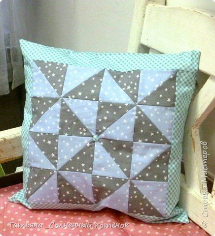 Лоскутная подушка и куколка Тильда-Милашка Мила фото 3