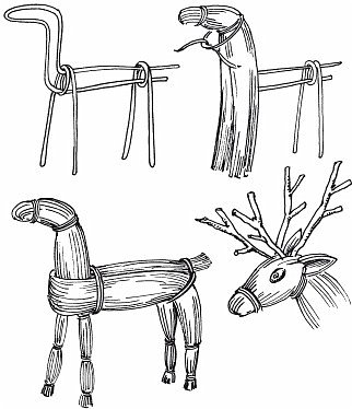 Соломенный олень был сделан, как экспонат , для участия в  межрегиональной выставке Рождественские узоры Поволжья фото 2