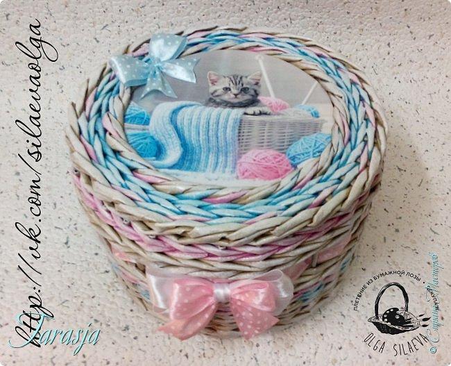 А сегодня на повестке дня вот такая прелесть:) Нежная шкатулочка для большой любительницы кошечек и вязания фото 4
