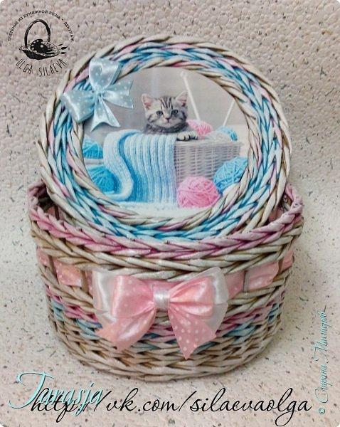 А сегодня на повестке дня вот такая прелесть:) Нежная шкатулочка для большой любительницы кошечек и вязания фото 3