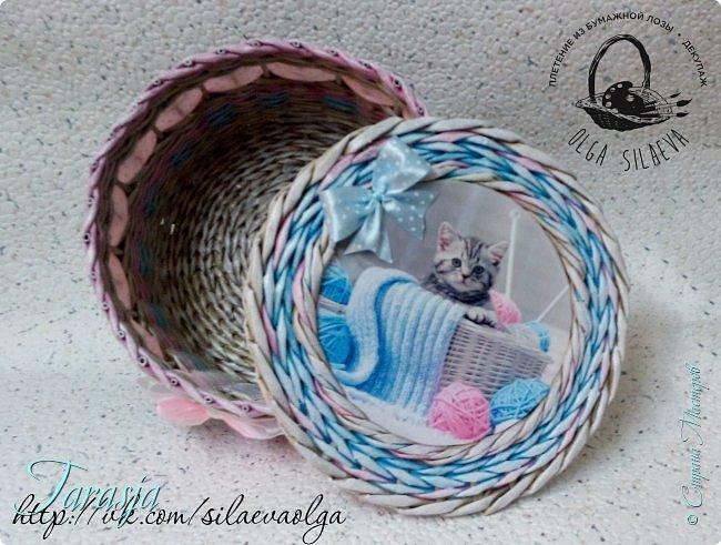 А сегодня на повестке дня вот такая прелесть:) Нежная шкатулочка для большой любительницы кошечек и вязания фото 5