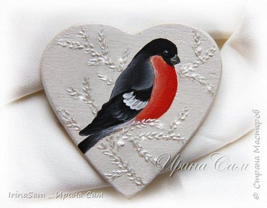 """Сердечки - валентинки. Роспись в технике """"Двойной мазок"""" на деревянных заготовках - сердечках. Предусматривались как магнитики , но можно использовать и так - для дизайна подарков. фото 2"""