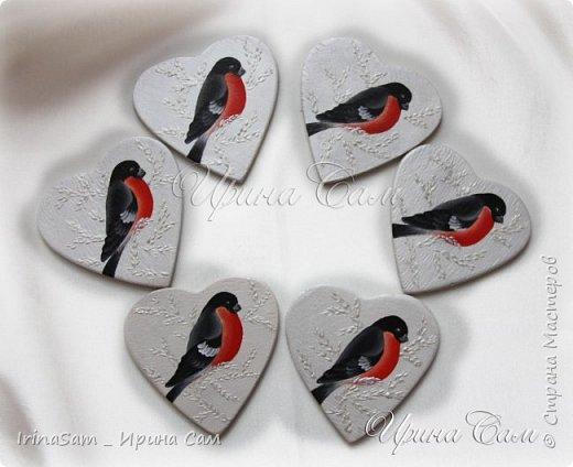 """Сердечки - валентинки. Роспись в технике """"Двойной мазок"""" на деревянных заготовках - сердечках. Предусматривались как магнитики , но можно использовать и так - для дизайна подарков. фото 3"""