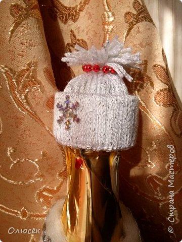 Такую одежку  делала еще к прошлому Новому Году. Шубка съемная. в 2012 году делала похожие наряды https://stranamasterov.ru/node/485404 , только беечку на бутылку клеила. фото 2