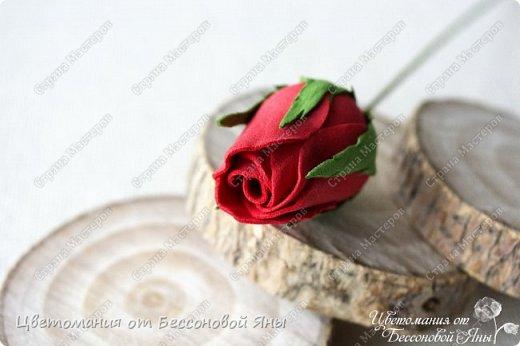 Мастер-класс Флористика искусственная Моделирование конструирование Мастер-класс со созданию бутона розы из фоамирана Фоамиран фом фото 1