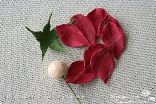 Бутоны розы из фоамирана мастер класс