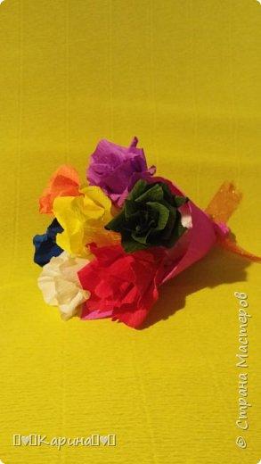Здравствуйте! Это моя вторая работа! Решила опять сделать розы, но не просто розы а цветные розы) Для конкурса (еще раз): Я Карина, мне 14 лет, технику незнаю. фото 2