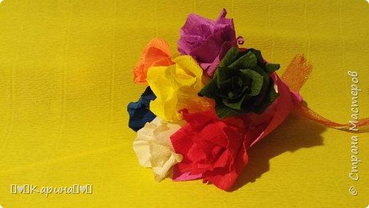 Здравствуйте! Это моя вторая работа! Решила опять сделать розы, но не просто розы а цветные розы) Для конкурса (еще раз): Я Карина, мне 14 лет, технику незнаю. фото 1