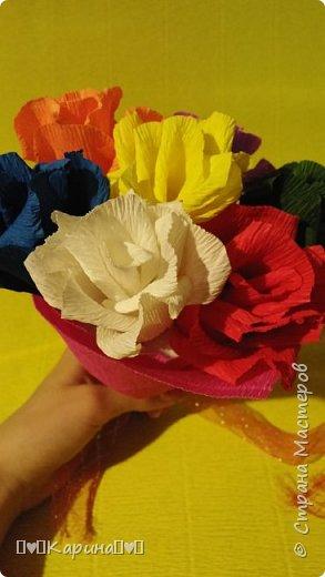 Здравствуйте! Это моя вторая работа! Решила опять сделать розы, но не просто розы а цветные розы) Для конкурса (еще раз): Я Карина, мне 14 лет, технику незнаю. фото 4