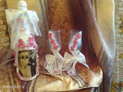 Добрый вечер уважаемые жители страны мастеров! Сегодня как обещала, делюсь с вами своим последним творением, свадебным набором к юбилею свадьбы родителей подружки. фото 8