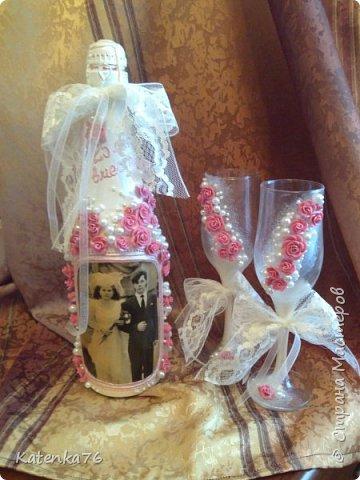Добрый вечер уважаемые жители страны мастеров! Сегодня как обещала, делюсь с вами своим последним творением, свадебным набором к юбилею свадьбы родителей подружки. фото 1
