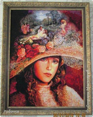 Добрый вечер, Страна Мастеров! Хочу предложить вам проследить  за продолжением моей вышивки под названием бабушкина шляпа. Начала в ноябре 2013 года. фото 3